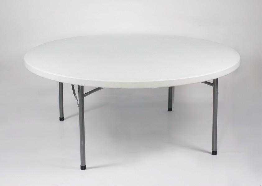 48 Round Folding Table Great Adjustable Height Round